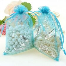 50/ 100 PCS Organza Wedding Party Favor Decoration Gift Candy Sheer Bags Pouches