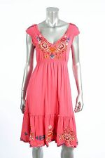 JWLA by Johnny Was Anaya Pink Tier Embroidered Summer  Dress Retail $328 #3848JW