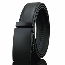 Black Fashion Casual Genuine Leather Automatic Buckle Mens Belt Waistband Strap