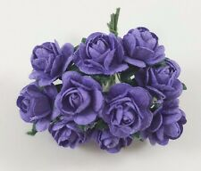 15 MM Purple Rose Flowers  Artificial DIY Craft Wedding Mulberry Paper Flower