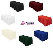 17 ft. Accordion Pleat Polyester Table Skirt, 7 Colors, Wedding & Tradeshow