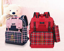 Girl School Backpack Travel Bag Bookbag Mochila Plaid Bag School Bag Pencil Case