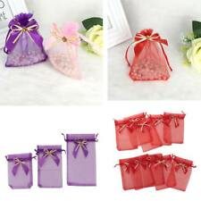 10pcs Organza Wedding Party Favor Decoration Gift Candy Sheer Bags Pouches