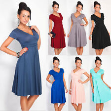 Womens Evening Cocktail Casual Dress Pleated Short Sleeveless Party Dress W6026