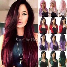 US Long Curly Wavy Cosplay Party Wigs Women Anime Synthetic Hair Wigs Costume #8