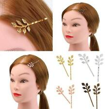 20pcs Hair Grip Clip Leaf Branch Hairpin Accessories Filigree Leaves Bobby Pins