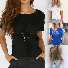 New Fashion Womens Ladies Casual Loose Tops Short Sleeve T-Shirt Summer Blouse