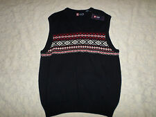 CHAPS SLEEVELESS VEST SWEATER MENS SIZE L NAVY COLOR NEW WITH TAGS