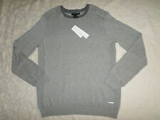 CALVIN KLEIN JEANS SWEATER MENS SIZE M CREWNECK LONG SLEEVES SOFT GREY NEW NWT