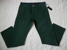 SEAN JOHN CHINO PANTS MENS SIZE 32X30 ZIP FLY DARK GREEN COLOR NEW WITH TAGS