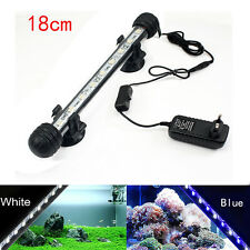 Aquarium Fish Tank LED Light Submersible Waterproof Bar Clip Strip Lamp 18-38cm
