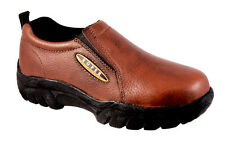 Roper Mens Performance Sport Slip-Ons Brown Bay Leather Loafers Shoes