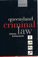 Queensland Criminal Law by Schloenhardt Andreas - Book - Soft Cover
