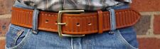 Men's Heavy 15oz Leather, Hand-tooled 1.75 inch wide Jeans Belt, Australian Made