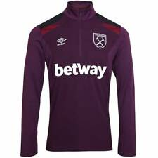 Umbro West Ham United Training Half Zip Top - Winter Bloom - Mens
