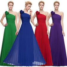 New Pleated Party Gown Prom Ball Long Chiffon Bridesmaid Evening Formal Dresses