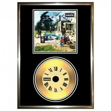 OASIS BE HERE NOW - SIGNED FRAMED GOLD VINYL RECORD CD & PHOTO DISPLAY. Free Shi