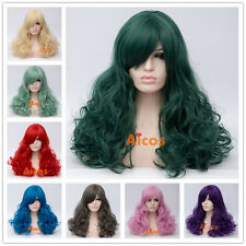 60cm Long Curly Lolita Party Wigs For Women Synthetic Blonde Cosplay Wig+Wig Cap