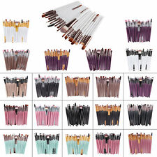 Lip Brush Tool Brushes Set Pro 20Pcs Makeup Powder Foundation Eyeshadow W0310