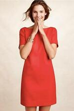Anthropologie NWT Size 4 Bow-Back Shift Dress by Maeve in Red New with Tag