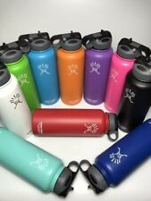 32/40ozHydro Flask Insulated Stainless Steel Water Bottle Wide Mouth W/Straw Lid
