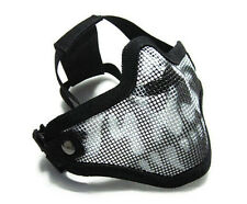 Half Face Mask Steel Mesh Airsoft Paintball Tactical Hunting War Game Protection