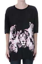 ROBERTO CAVALLI New Woman T-shirt Silk COTTON Short Sleeves Top Made in Italy