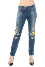 ROBERTO CAVALLI New Woman blue Stretch Denim Jeans Pants Made in Italy NWT