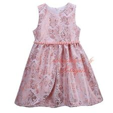 Girls Flower Party Dress Toddler Kids Vintage Pageant Princess Holiday Dresses