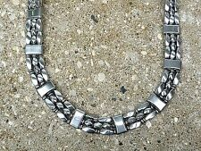 TRIPLE Row 100% Silver Magnetic Hematite Necklace Bracelet Anklet Therapeutic