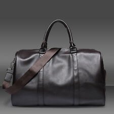 Men's Leather Duffle Gym Tote Bag Travel bag Weekend Overnight Luggage Handbag