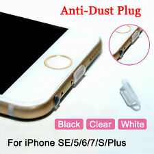 Silica Gel Data Port Anti-Dust Plug Protect Cover For iPhone SE 5 6 7 S Plus Lot