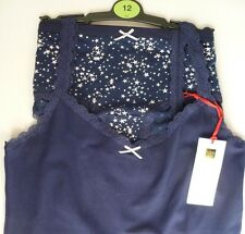 Marks & Spencer Pretty Navy Knickers & Vest Set in Sizes UK12 New with Tag