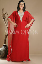 New Arabian Party Wear Evening Gown Night Dress With Fancy Embroidery 1310