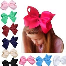 New Alligator Clips Girls Large Bow Ribbon Kids Accessories Hair Clip ES8801