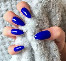 FALSE NAILS - Electric Blue - Stick On - The Holy Nail