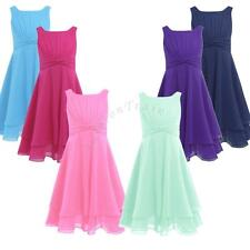 Flower Kids Girls Formal Party Wedding Bridesmaid Pageant Prom Christening Dress