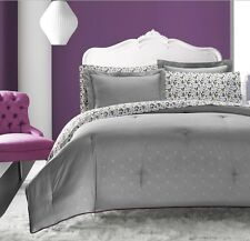 New Chic Grey Skull Trellis Rose Comforter Sheet 7 pcs Queen Full Twin Set