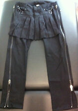 LIP SERVICE Black Punk BONDAGE Pants with KILT Punk Goth NEW * Men's Size 32