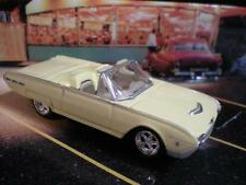 1962 62 FORD THUNDERBIRD CONVERTIBLE SPORT CAR 1/64 LIMITED EDITION YELLOW