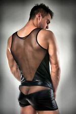 Sexy Wet-Look Men GoGo Outfit Striptease Clubwear Lingerie Net Set HoT