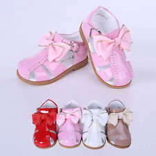 Toddler Girls Bow Sandals Baby Kids Wedding Shoes Summer Party Princess Flats