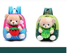 Lovely Cartoon Fruit Bear Backpack Boy Girl Book Bag Kindergarten Child Backpack