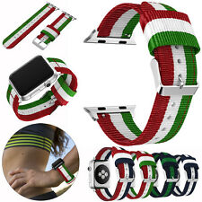 Replacement  Nylon Wrist Band Watchband Strap For Apple Watch Series 1/2 38/42mm