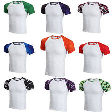 Mens Summer Tops Tees Slim Fit T-Shirt Short Sleeve Camouflage Casual Clothes