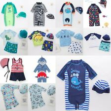 Baby Kids Boy Summer Beach Swimwear Swimsuit Swimming Costume Trunks+Hat Set