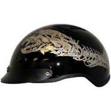 DOT APPROVED VENTED ALIEN MOTORCYCLE HALF BEANIE HELMET - free shipping