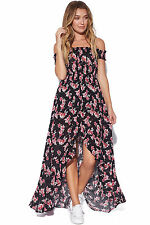 New LUCK & TROUBLE Womens Frolic Maxi Black