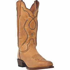 Dan Post Mens Palomino Saddle Brand Leather Albany R Toe Cowboy Boots