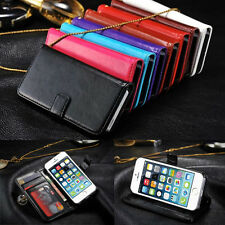 Luxury Leather Magnetic Flip Cover Stand Wallet Case for Apple iPhone 5s SE